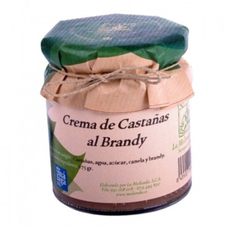 "buy spanish ""Chestnuts with brandy"" cream.  La Molienda Verde"