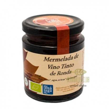 buy spanish Organic Ronda Red wine Jam 275 g-benalauria