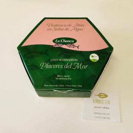 ventresca de atún en salsa de algas, producto andaluz