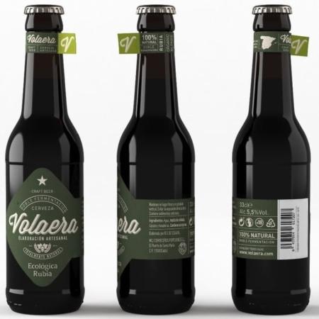 Comprar cerveza rubia ecológica La Volaera