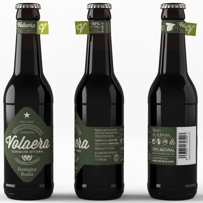 buy Organic craft blond beer La Volaera