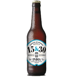 Cerveza 15&30 INDIA - Barrica de Roble