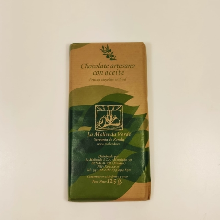 Chocolate artesano con Aceite. La Molienda Verde