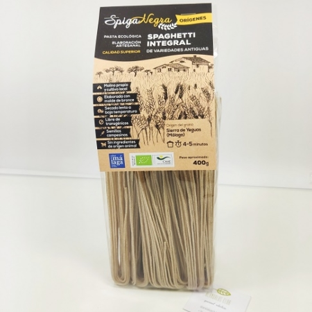 Spaguetti eco, espaguetti integral, spaghetti artesano Spiga negra