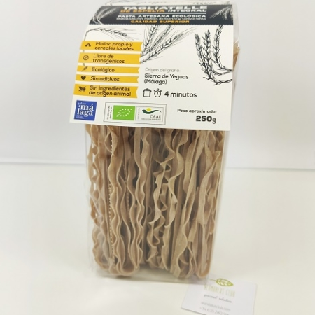 tagliatelle integral de espelta, slow food