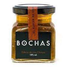 bochas de oloroso caviar de vino
