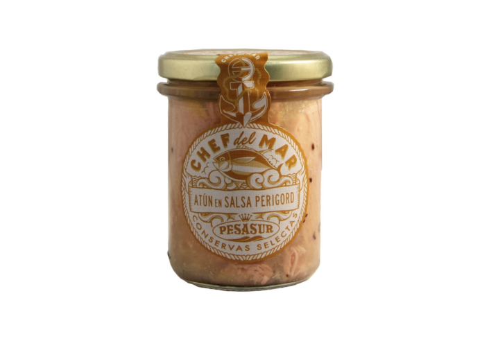 Atún en Salsa Perigord conservas de Angel Leon. Conservas gourmet