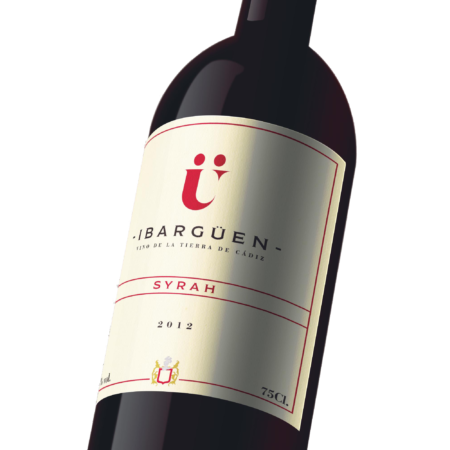Spanish red wine ibarguen syrah