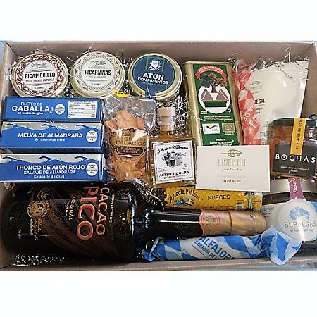 Cesta-gourmet-productos típicos artesanos, gastronomía de calidad