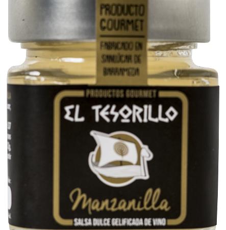 mermelada de manzanilla, salsa gelificada de vino