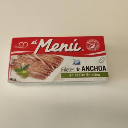 conservas el menú, filetes de anchoa en aceite de oliva