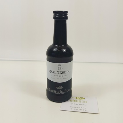 Pedro Ximénez del Real Tesoro 100ml - vino en miniatura, ideal para regalar