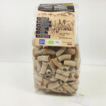 rigatoni integral, pasta eco online, pasta artesana