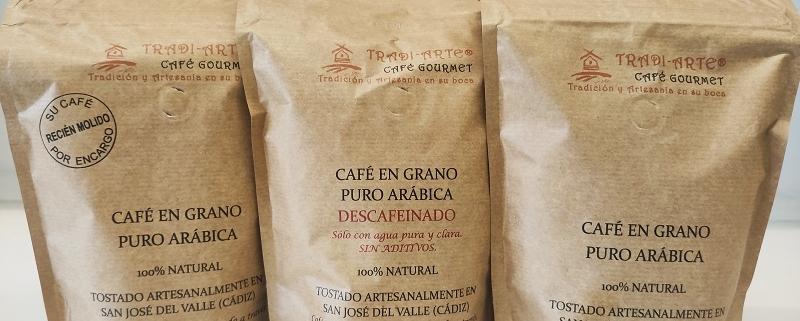 café gourmet artesano Tradiarte tostado artesanalmente en Cádiz