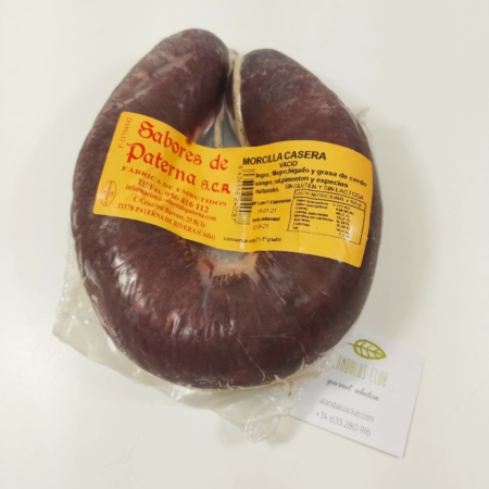 Homemade Morcilla (Blood Saussage)- Sabores de Paterna. 500g