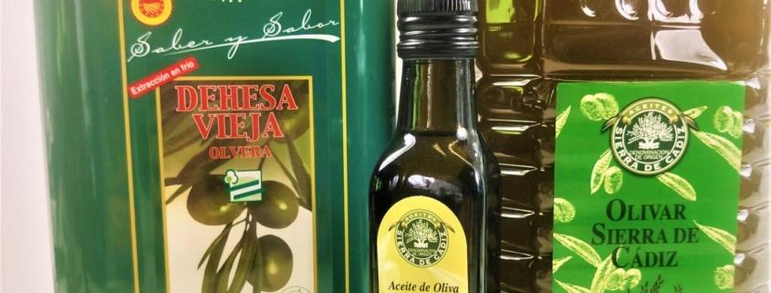 Aceites de Oliva Virgen extra con sello de Denominación de Origen