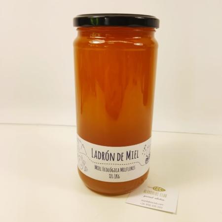 1 kg de Miel ecológica milflores. Ladrón de miel.