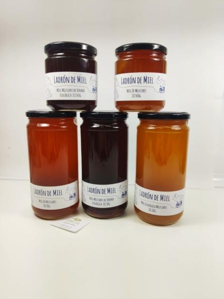 Variedad de miel milflores del Ladrón de miel.