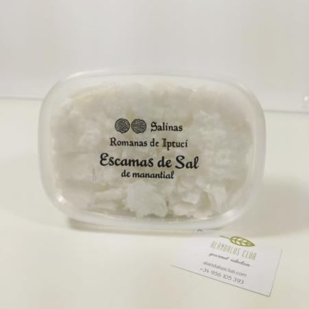 Escamas de sal de manantial de las Salinas Romanas de Iptuci