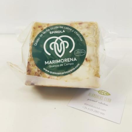 330g de queso spinola maduro de leche cruda de cabra y chalotas