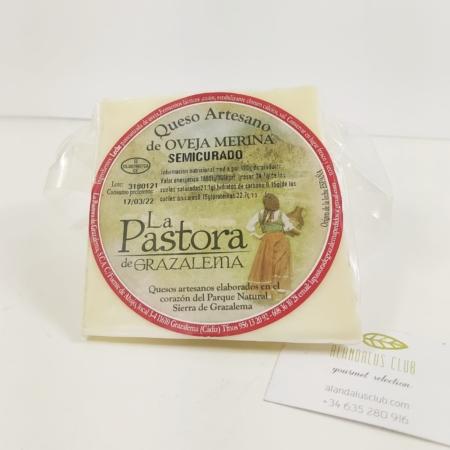 Acheter Fromage de brebis mérinos semi-affiné 250g - La Pastora Grazalema